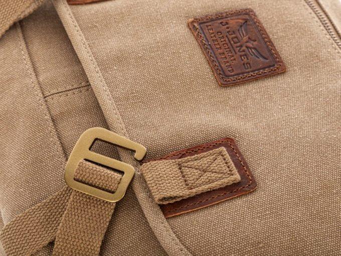 Brązowe torby męskie na ramię i beżowe