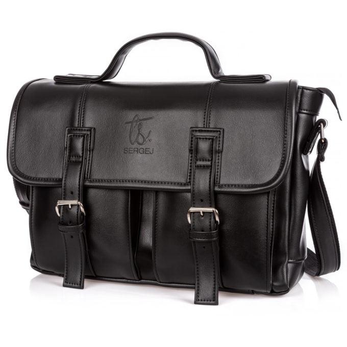 Czarne torby męskie na ramię