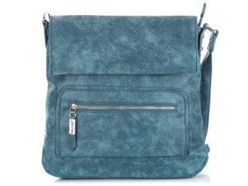 Niebieska torebka damska na ramię z klapką Bag Street