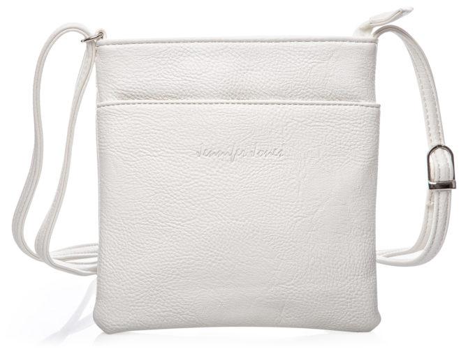 Mała biała torebka damska na ramię Jennifer Jones