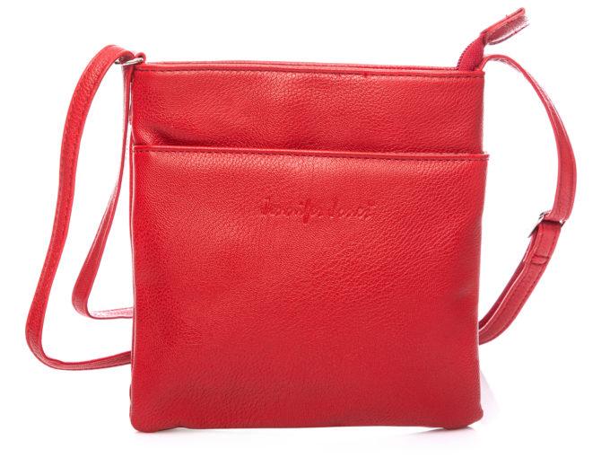 Mała czerwona torebka damska na ramię Jennifer Jones