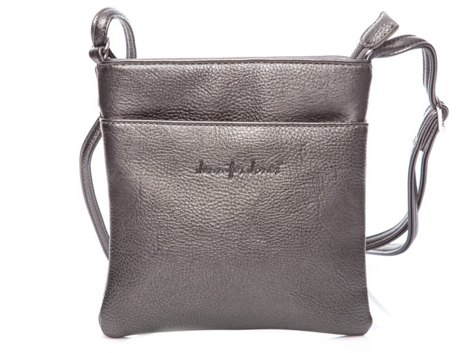 Mała srebrna metaliczna torebka damska na ramię Jennifer Jones