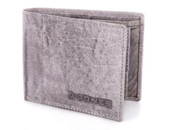 Szary średni portfel męski RFID J Jones