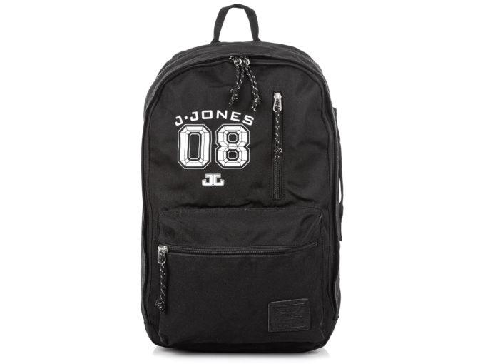 Czarny plecak młodzieżowy J jones