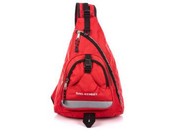 Trójkątny plecak na jedno ramię czerwony Bag Street