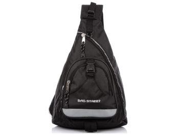 Trójkątny plecak na jedno ramię czarny Bag Street