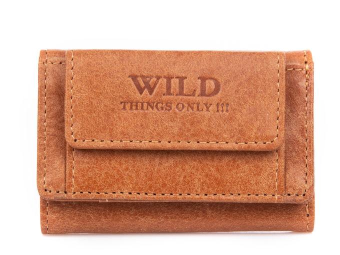 Mała portmonetka męska skórzana Wild Things Only jasny brąz