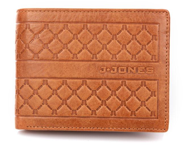 Elegancki portfel męski skórzany jasno brązowy J Jones