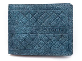 Nowoczesny portfel męski skórzany niebieski J Jones