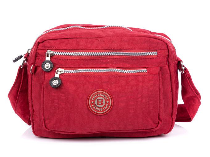 Lekka czerwona torebka turystyczna damska Bag Street