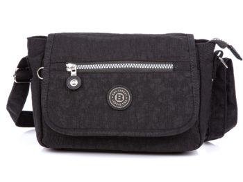 Mała lekka torebka damska czarna z klapką Bag Street