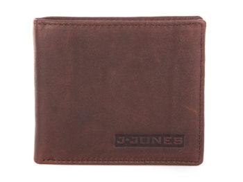 Poziomy portfel męski skórzany kasztanowy brąz