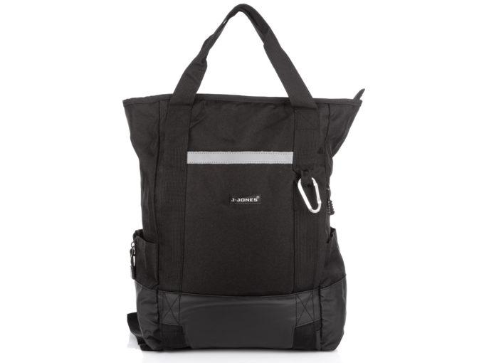 Plecak i torba w jednym czarny Bag Street sportowy