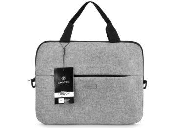 Elegancka szara torba na laptopa SLIM ZAGATTO ZG88