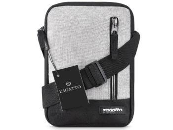 Mała torba męska na ramię czarno szara Zagatto ZG51 West Pack
