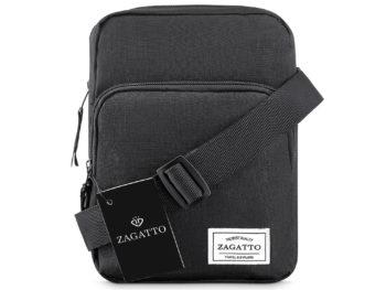 mała czarna torba męska na ramię ZAGATTO ZG50