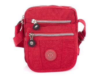 Mała czerwona materiałowa torebka damska Bag Street