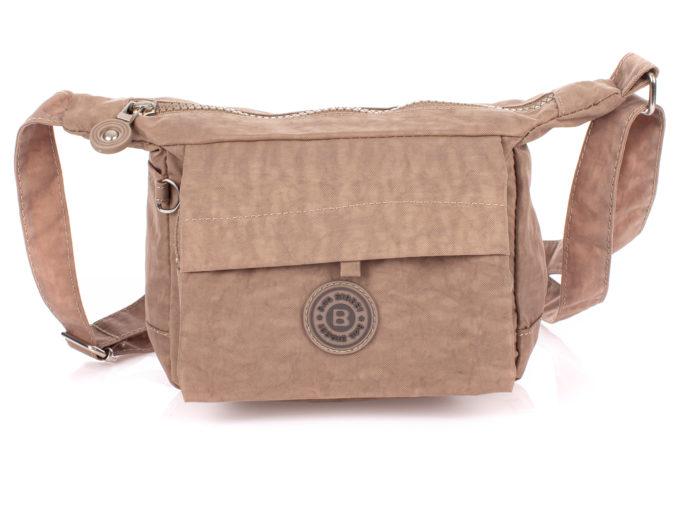 Mała beżowa torebka damska na ramię z kreszu Bag Street
