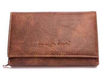 Brązowy portfel damski średni ze skóry ekologicznej Jennifer Jones