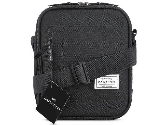 czarna wygodna torba męska na ramię ZAGATTO ZG54