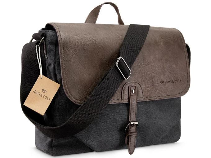 męska torba na ramię z klapą w stylu vintage ZAGATTO ZG9596
