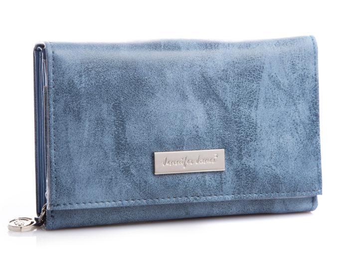 Średni portfel damski jasno niebieski Jennifer Jones