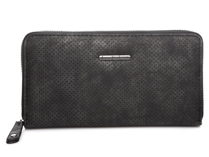 Czarny portfel damski ażurowy Jennifer Jones