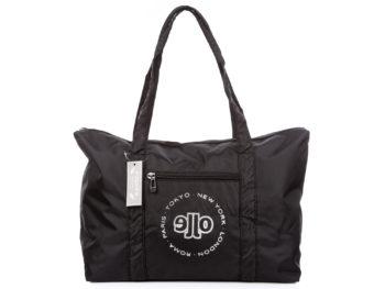 Duża materiałowa torba podróżna czarna