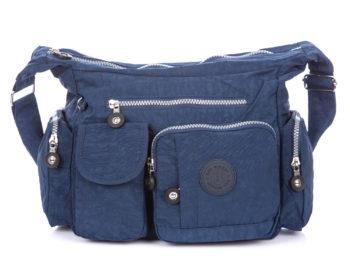 Niebieska lekka torba z kieszonkami Bag Street