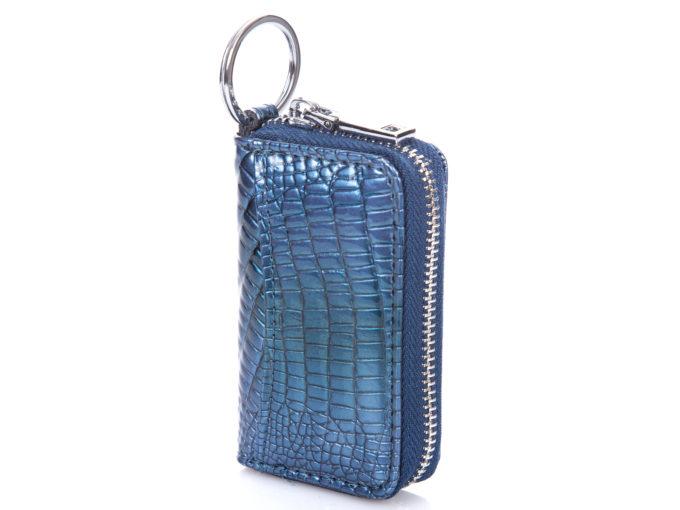 Niebieskie lakierowane etui na klucze Jennifer Jones