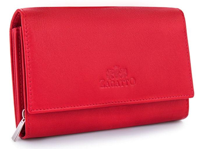 Portfel damski czerwony ZAGATTO gładki