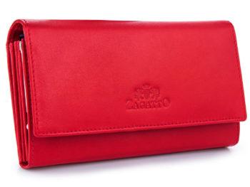 gładki czerwony portfel damski ZAGATTP