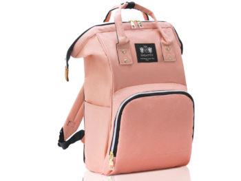 różowa plecako torba do wózka dziecięcego ZAGATTO