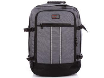 Duży plecak na wycieczkę do samolotu podręczny Bag Street szary
