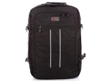 Duży plecak podróżny czarny do samolotu