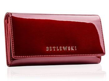 Duży portfel damski czerwony BETLEWSKI