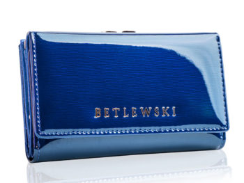 Niebieski portfel damski BETLEWSKI
