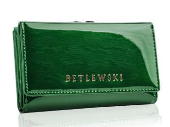 Zielony portfel BETLEWSKI zapinany na bigiel