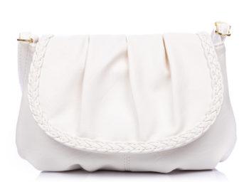 Biała torebka damska mała z klapką Bag Street