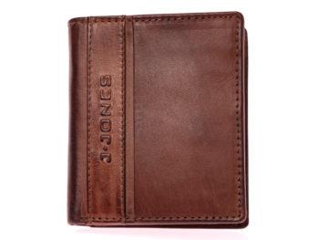 Brązowy portfel męski J Jones 5706