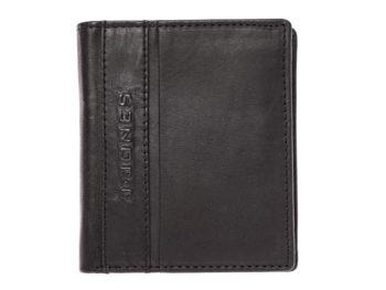 Czarny skórzany portfel męski J Jones 5706