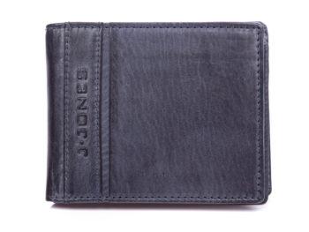 Portfel męski bifold skórzany RFID J Jones