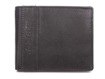 Skórzany portfel męski bifold czarny J Jones