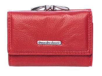 Portfel damski czerwony Jennifer Jones na bigiel RFID