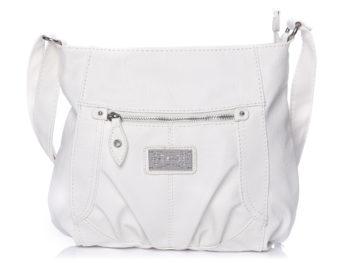 Torebka damska Bag Street klasyczna na ramię biała
