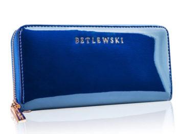 niebieski piórnik lakierowany betlewski