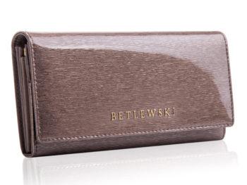 Betlewski szary portfel lakierowany