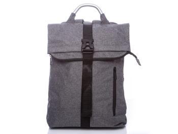 Szary plecak na laptopa vintage