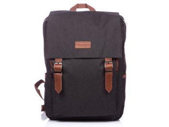 Elegancki plecak czarny z klapką Rovicky