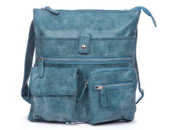 Niebieska torba damska z wieloma kieszonkami Bag Street